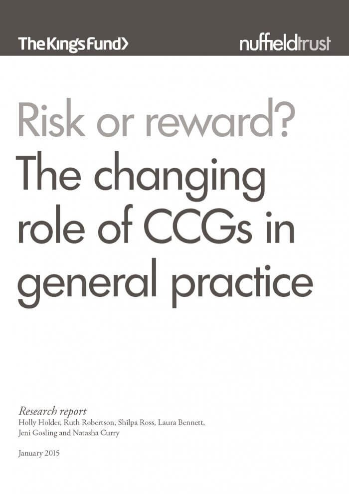 Risk or reward report front cover