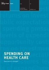 Spending on health care report front cover