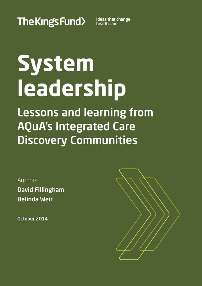 System leadership report front cover