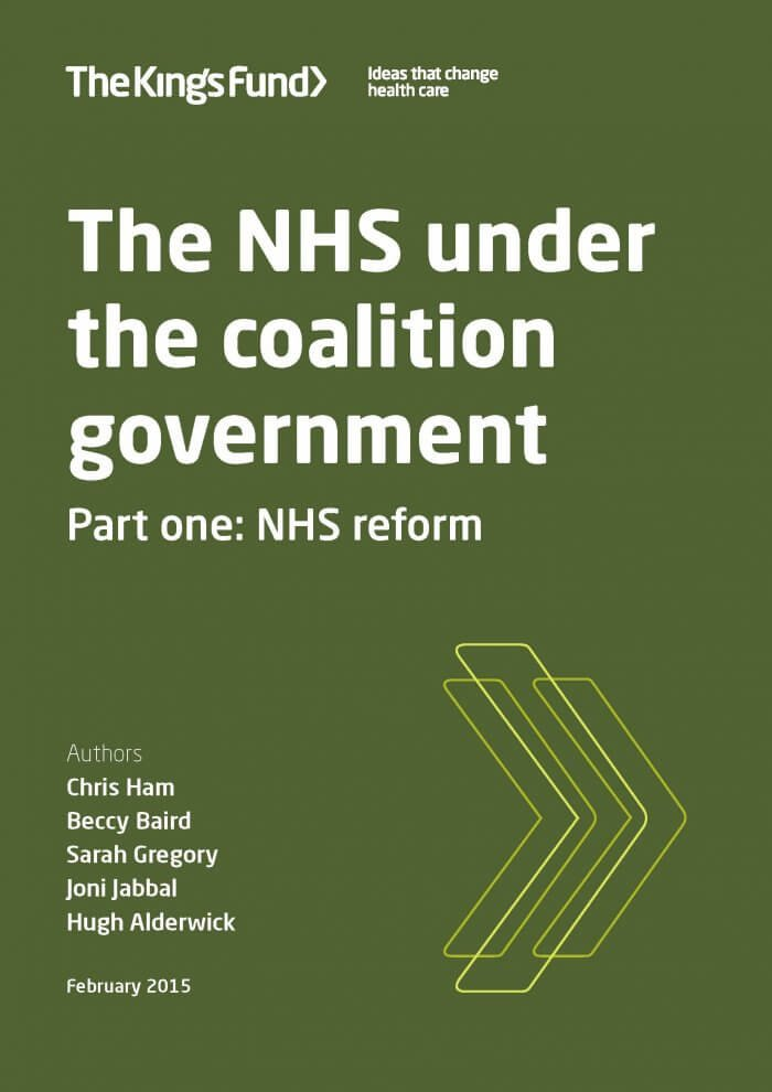 NHS under the coalition government cover