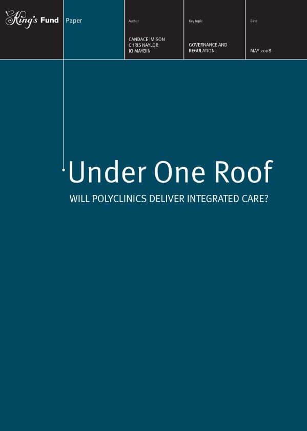 Under one roof report front cover