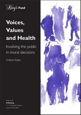 Voices, values and health report front cover