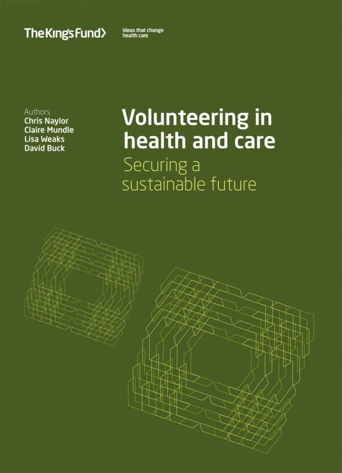 Volunteering in health and social care front cover
