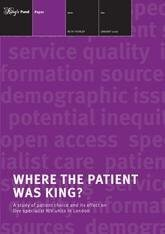 Where the patient was king report front cover