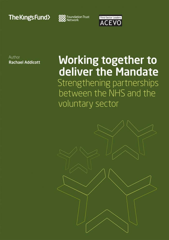 Working together to deliver the Mandate front cover