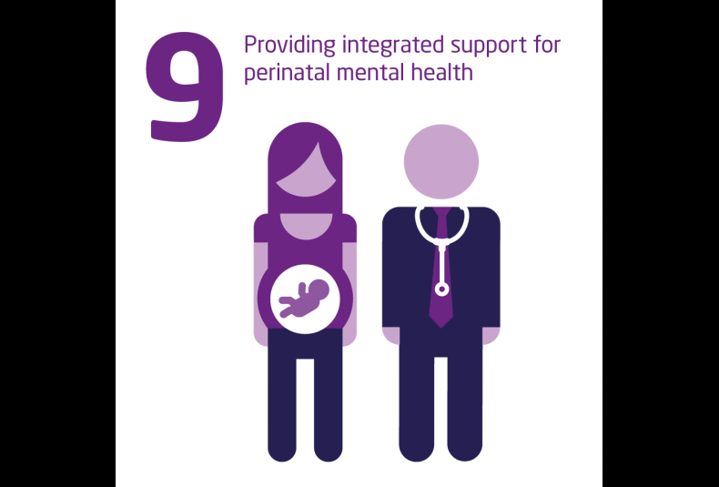 Providing integrated support for perinatal mental health