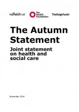 The Autumn Statement - Joint statement on health and social care