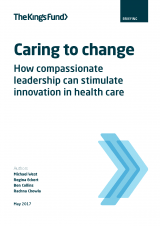 cover image for caring to change report