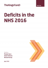 Deficits in the NHS 2016 | by Phoebe Dunn, Helen McKenna, Richard Murray
