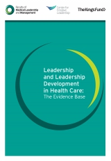 Leadership and leadership development in health care