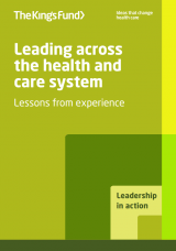 Leading across the health and care system - publication cover