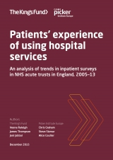 Patients' experience of using hospital services