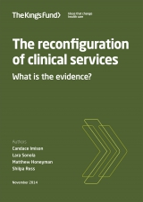 The reconfiguration of clinical services