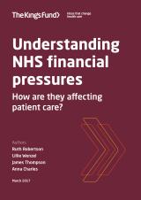 Understanding NHS financial pressures report cover