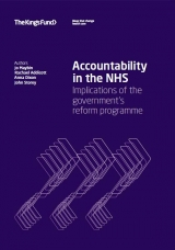 Accountability in the NHS publication cover