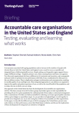 Accountable care organisations in the United States and England front cover