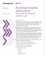 Avoiding hospital admissions: What does the research evidence say? publication cover