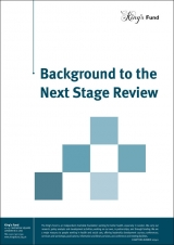 Background to the Next Stage Review publication cover
