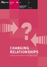 Changing relationship: Findings of the patient involvement project publication cover