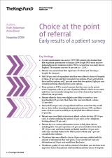 Choice at the point of referral: Early results of a patient survey publication cover