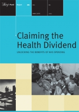 Claiming the health dividend publication cover