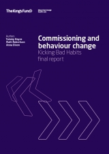 Commissioning and behaviour change: Kicking Bad Habits final report publication cover