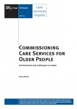 Commissioning care services for older people publication cover