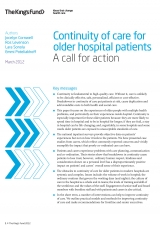 Front cover of continuity of care for older hospital patients