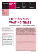 Cutting NHS waiting times publication cover