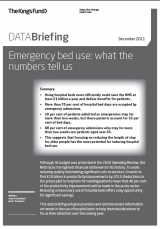 Emergency bed use data briefing cover