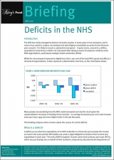 Deficits in the NHS briefing cover