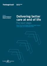 Delivering better care at end of life publication cover