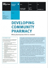Developing community pharmacy publication cover