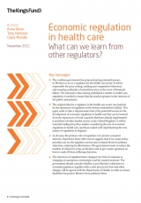 Economic regulation in health care publication cover