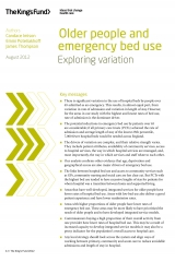 Front cover of Older people and emergency bed use