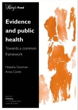 Evidence and public health: Towards a common framework publication cover