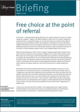 Free choice at the point of referral publication cover