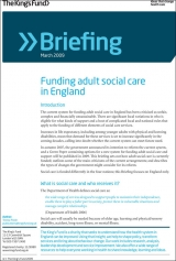 Funding adult social care in England briefing cover