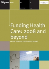 Funding health care: 2008 and beyond publication cover