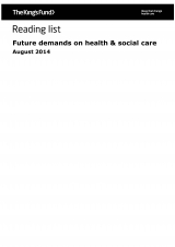 Future demands on health and social care - Reading list