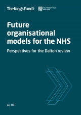 Future organisational models for the NHS front cover