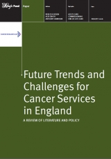 Future trends and challenges for cancer services in England publication cover