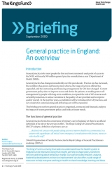 General practive in England: An overview briefing cover