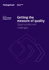 Getting the measure of quality: Opportunities and challenges publication cover