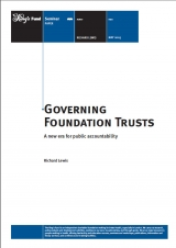 Governing foundation trusts publication cover