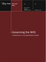 Governing the NHS: Alternatives to an independent board publication cover