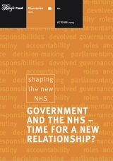 Government and the NHS - TIme for a new relationship? publication cover