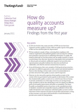 How do quality accounts measure up? Findings from the first year publication cover
