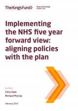 Implementing the NHS five year forward view report front cover