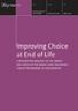Improving choice at the end of live publication cover